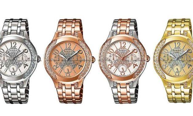 CASIO SHEEN jsou hodinkami i šperkem zároveň