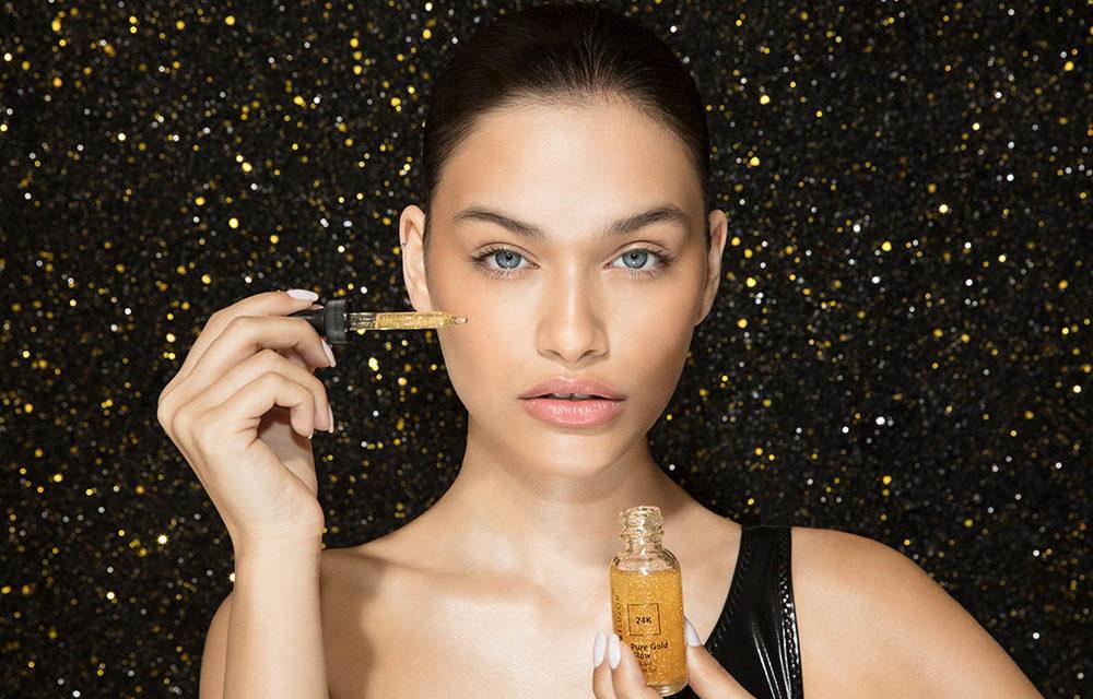 Ošetření 24K zlatem kosmetičky MIMI LUZON